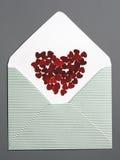Μήνυμα καρδιών Στοκ Εικόνες