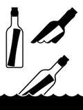 Μήνυμα μπουκάλια ελεύθερη απεικόνιση δικαιώματος