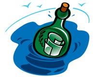 μήνυμα μπουκαλιών διανυσματική απεικόνιση