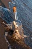 μήνυμα μπουκαλιών Στοκ Φωτογραφία