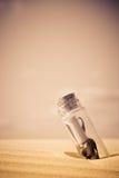 μήνυμα μπουκαλιών Στοκ Εικόνα