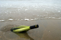 μήνυμα μπουκαλιών Στοκ εικόνες με δικαίωμα ελεύθερης χρήσης