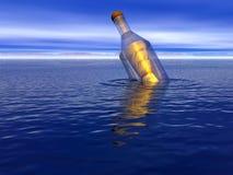 μήνυμα μπουκαλιών απεικόνιση αποθεμάτων