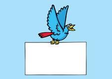 μήνυμα πουλιών στοκ εικόνες