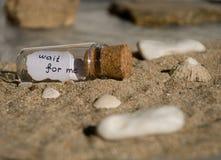 Μήνυμα σε ένα μπουκάλι Στοκ Φωτογραφίες