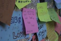 Μήνυμα στον τοίχο Στοκ Εικόνα