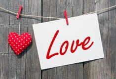 Μήνυμα της αγάπης Στοκ φωτογραφία με δικαίωμα ελεύθερης χρήσης