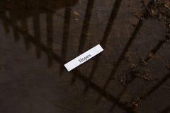 Μήνυμα τύχης Στοκ φωτογραφίες με δικαίωμα ελεύθερης χρήσης
