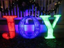 Μήνυμα Χριστουγέννων της χαράς υπαίθρια στοκ φωτογραφία με δικαίωμα ελεύθερης χρήσης