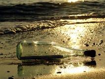 μήνυμα 6 μπουκαλιών Στοκ εικόνα με δικαίωμα ελεύθερης χρήσης