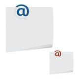 Μήνυμα paperclip Στοκ Εικόνες