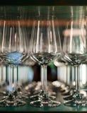 Μήτρα - γυαλιά κρασιού στοκ εικόνες