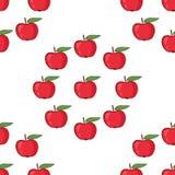 Μήλα Άνευ ραφής διανυσματική ανασκόπηση προτύπων Στοκ εικόνα με δικαίωμα ελεύθερης χρήσης