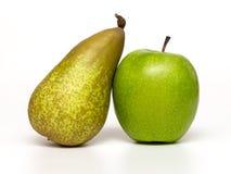 Μήλα και αχλάδια Στοκ εικόνες με δικαίωμα ελεύθερης χρήσης