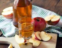 Μήλα και χυμός μήλων Στοκ εικόνα με δικαίωμα ελεύθερης χρήσης