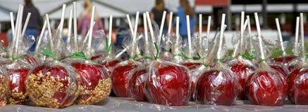 Μήλα καραμελών Στοκ Εικόνες