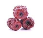 Μήλα πιθήκων που απομονώνονται στο λευκό Στοκ Εικόνες
