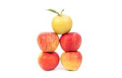 μήλα που απομονώνονται Στοκ εικόνα με δικαίωμα ελεύθερης χρήσης