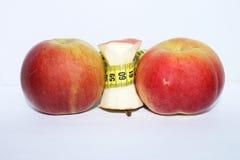 μήλα που μετρούν την ταινία Στοκ Φωτογραφία