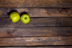 μήλα πράσινα δύο Στοκ Εικόνες