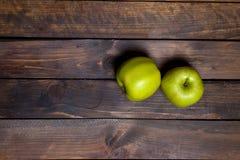 μήλα πράσινα δύο Στοκ Φωτογραφίες