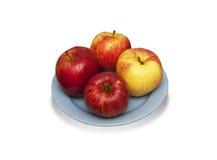 Μήλα σε ένα πιάτο Στοκ Φωτογραφίες
