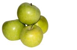 μήλα τέσσερα πράσινα Στοκ Εικόνα