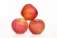 μήλα τρία Στοκ εικόνα με δικαίωμα ελεύθερης χρήσης