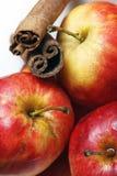 μήλα υγρά Στοκ Εικόνες