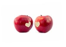 μήλα δύο Στοκ Εικόνες