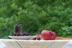 Μήλα Cherenshnya στον πίνακα Στοκ Εικόνες