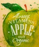 Μήλο αφισών Στοκ Εικόνες