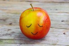 μήλο ευτυχές Στοκ φωτογραφία με δικαίωμα ελεύθερης χρήσης