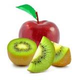 Μήλο και ακτινίδιο Στοκ φωτογραφίες με δικαίωμα ελεύθερης χρήσης