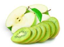 Μήλο και ακτινίδιο Στοκ εικόνες με δικαίωμα ελεύθερης χρήσης