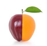 μήλο και πορτοκαλιά φρούτα Στοκ Φωτογραφίες