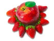 Μήλο και φράουλα Στοκ εικόνες με δικαίωμα ελεύθερης χρήσης