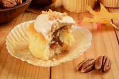 Μήλο καραμέλας cupcake Στοκ εικόνα με δικαίωμα ελεύθερης χρήσης