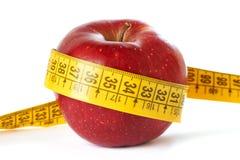 μήλο που απομονώνεται μέτ&rho Στοκ φωτογραφίες με δικαίωμα ελεύθερης χρήσης
