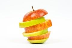 Μήλο που κόβεται στις φέτες Στοκ Εικόνα