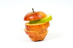 Μήλο που κόβεται στις φέτες Στοκ εικόνες με δικαίωμα ελεύθερης χρήσης