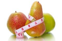 μήλο που μετρά την ταινία αχ& Στοκ Εικόνα