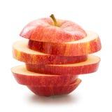μήλο που τεμαχίζεται Στοκ Εικόνες