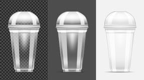 Μίας χρήσης διαφανές πλαστικό φλυτζάνι ελεύθερη απεικόνιση δικαιώματος