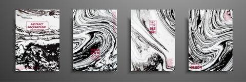 Μίγμα ακρυλικών χρωμάτων Υγρή μαρμάρινη σύσταση Ρευστή τέχνη Εφαρμόσιμος για την κάλυψη σχεδίου, παρουσίαση, πρόσκληση Στοκ Εικόνες