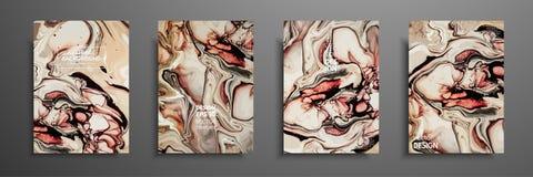 Μίγμα ακρυλικών χρωμάτων Υγρή μαρμάρινη σύσταση Ρευστή τέχνη Εφαρμόσιμος για την κάλυψη σχεδίου, παρουσίαση, πρόσκληση Στοκ φωτογραφία με δικαίωμα ελεύθερης χρήσης