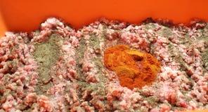 Μίγμα κρέατος για τα λουκάνικα Στοκ φωτογραφία με δικαίωμα ελεύθερης χρήσης