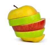 Μίγμα μήλων που απομονώνεται Στοκ Φωτογραφίες