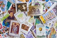 Μίγμα παλαιών γραμματοσήμων Στοκ Εικόνες