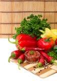 Μίγμα πιπεριών και σάλτσας Στοκ Εικόνες